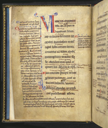 Decorated Initial, In A Glossed Gospel Of Mark f.1v